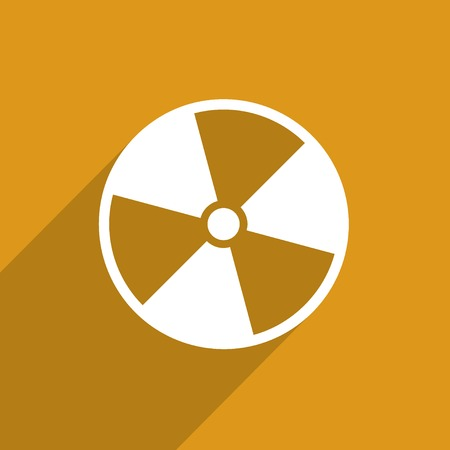 fission: radiation web icon.