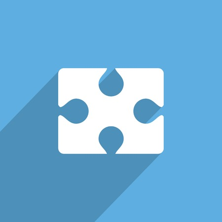 contrasts: puzzles piece web flat icon.