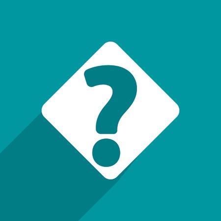 question web flat icon. photo