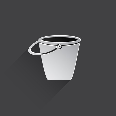 drudgery: bucket flat icon illustration.