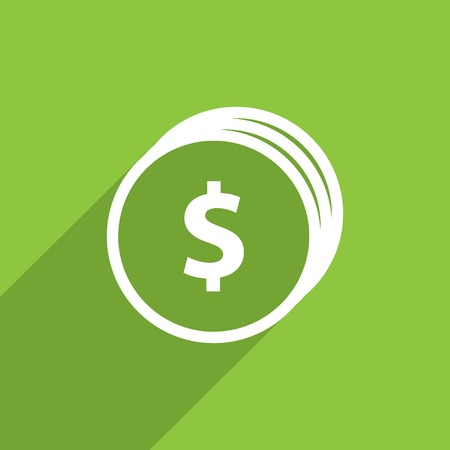 signos de pesos: monedas con signo de dólar icono plana web