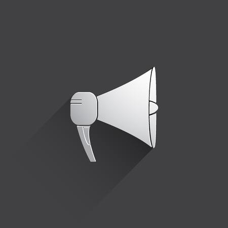 mega phone: loudspeaker web flat icon.