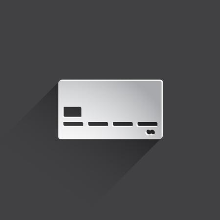 mastercard: bank card web flat icon. Stock Photo