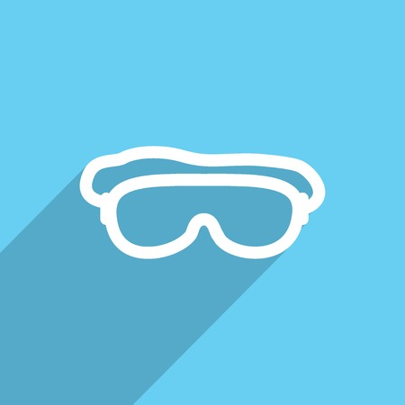 free diver: diving mask web icon.