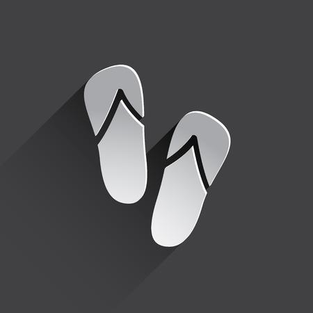 sandalias: sandalias de playa de iconos web.