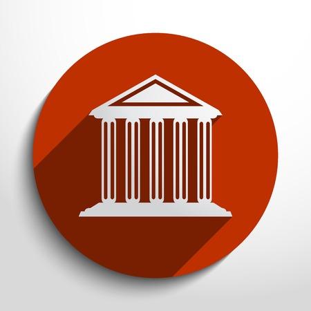 university building: Vector bank, school, university building web icon.