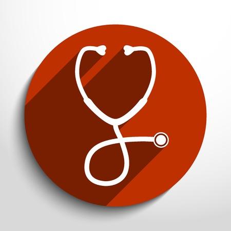 stethoscope: Vector stethoscope web icon.