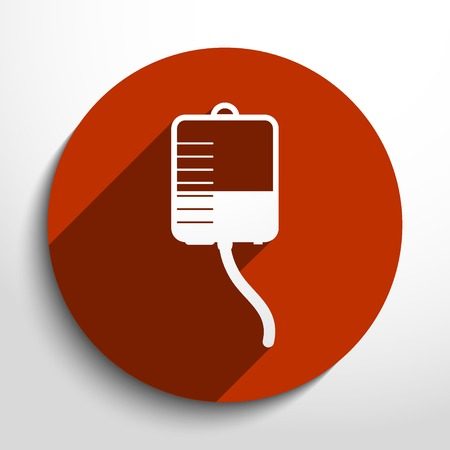 dropper: Vector medical dropper flat icon. Illustration