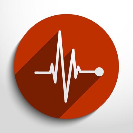 Vector pulse icon. Heart beat, cardiogram. Illustration