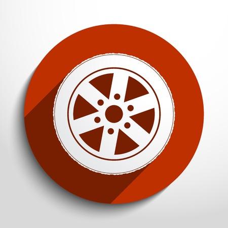 vector tyre: Vector tyre web icon.