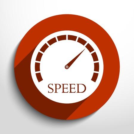 speed test: Vector speedometer web icon. Illustration