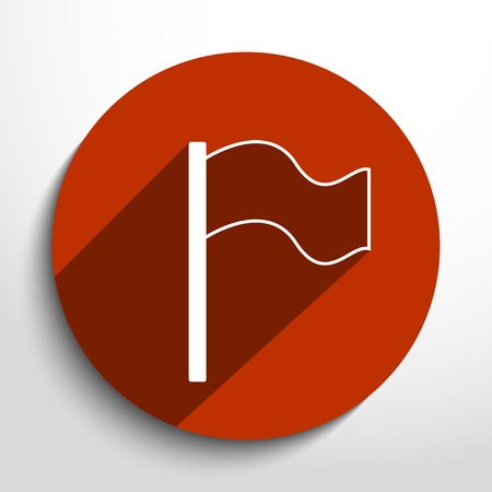 reference point: Vector flag web icon. Illustration
