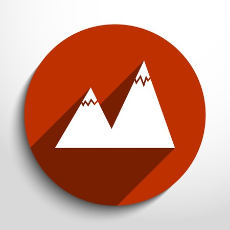 Vector landscape web icon.