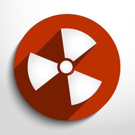 Vector radiation web icon.