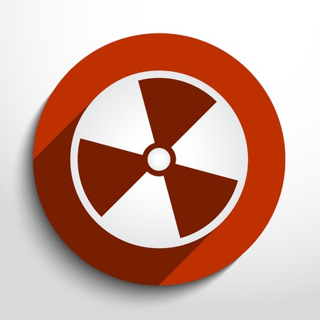 fission: Vector radiation web icon.