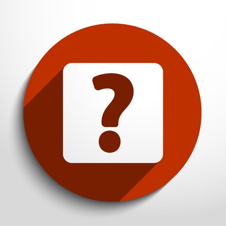 Vector question web flat icon. Vector