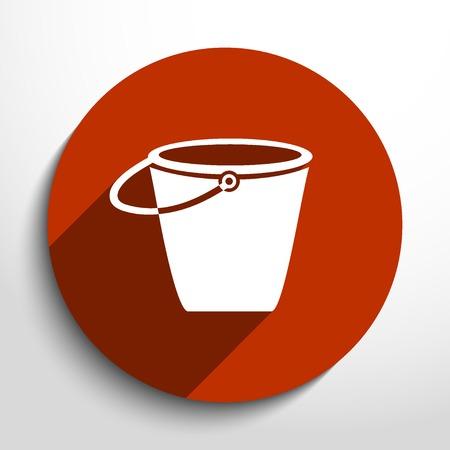 Vector bucket flat icon illustration.