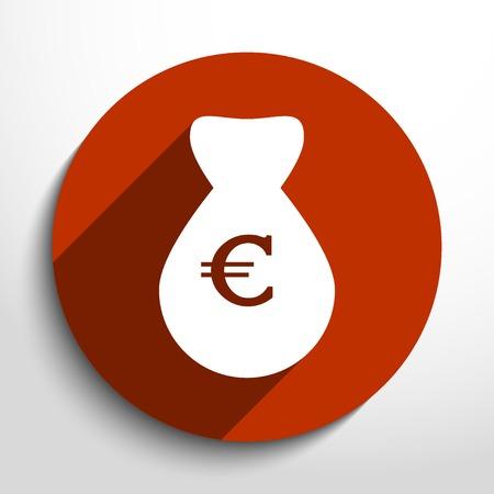 million dollars: Vector money bag web flat icon.