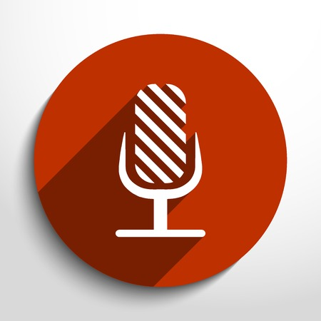 oldie: Vector microphone web flat icon.