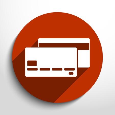 mastercard: Vector bank card web flat icon.