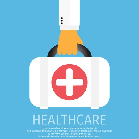 a substance vial: Vector medicine and healthcare background.