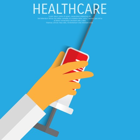 healthcare and medical: Vector healthcare medical flat background.