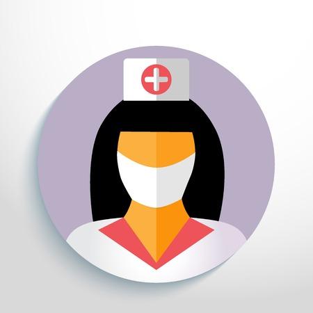 nurse with gauze bandage. Vector