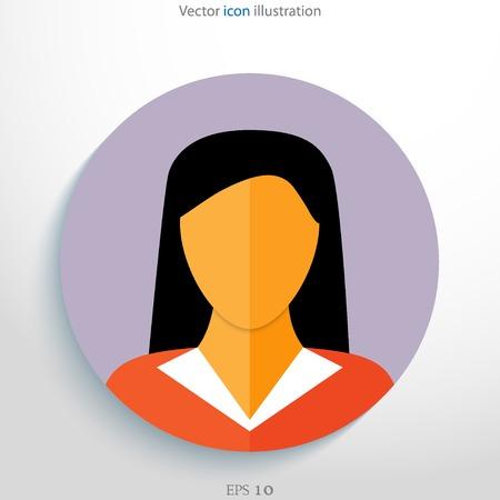 Flat avatar icon. Vector