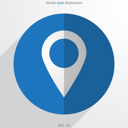 needle tip: Vector map pointer web flat icon