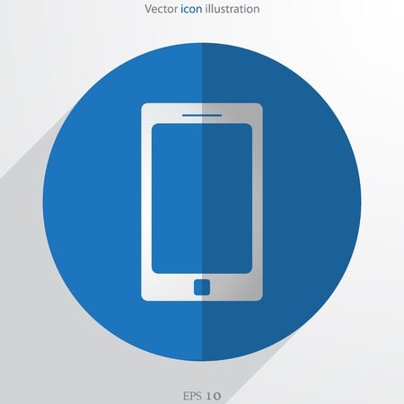 get in touch: Vector smart phone web flat icon