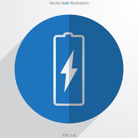 Vector battery web flat icon Vector