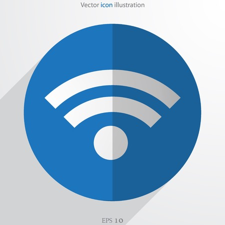 wi fi: Vector wi fi web flat icon Illustration