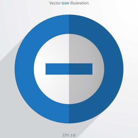 minus: Vector minus web flat icon