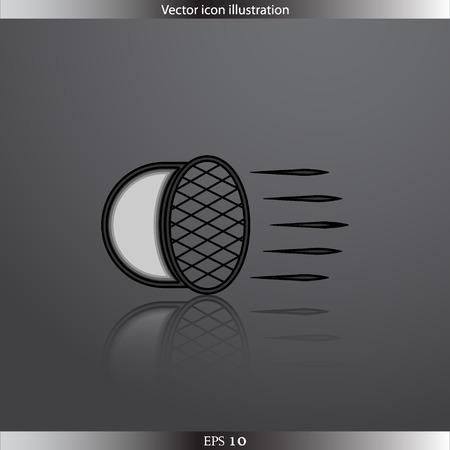 halogen: Vector Car headlight web flat icon Illustration