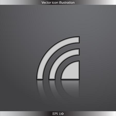 fi: Vector wi fi web flat icon Illustration