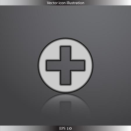 Vector plus web flat icon Vector