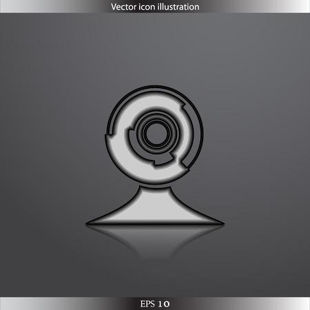 web cam: Vector web cam icon
