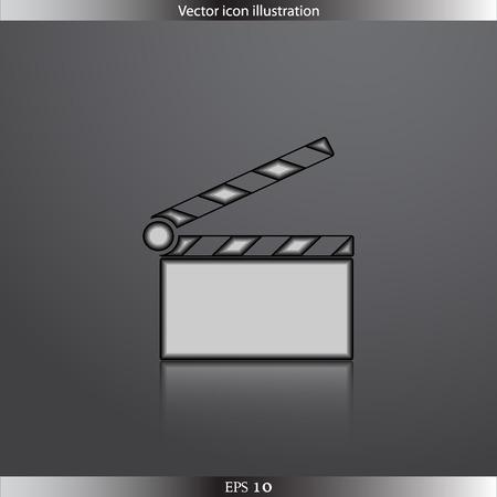 clapperboard: Vector clapperboard web icon