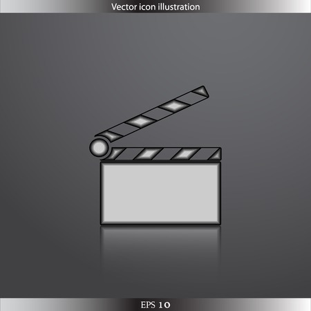 clapperboard: Vector icono claqueta web