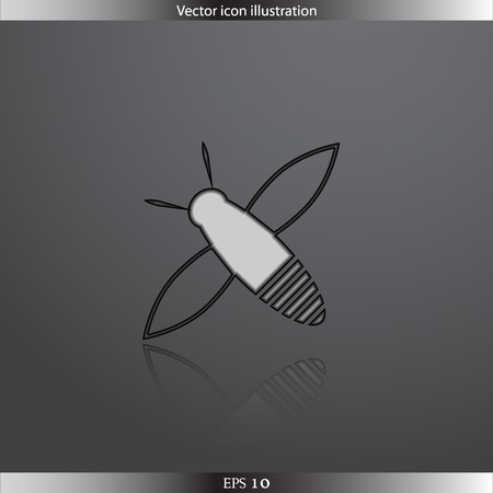 Vector bee web icon Illustration