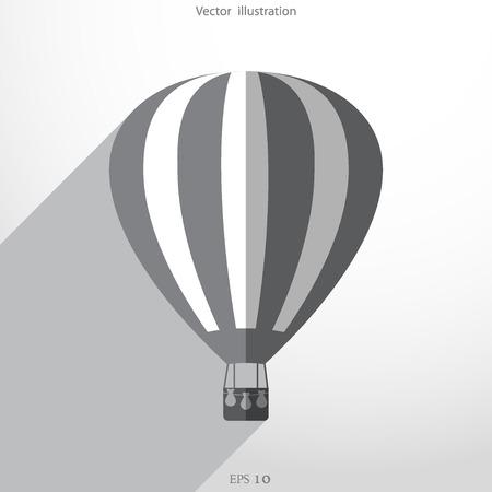 ballooning: hot air balloon web flat icon