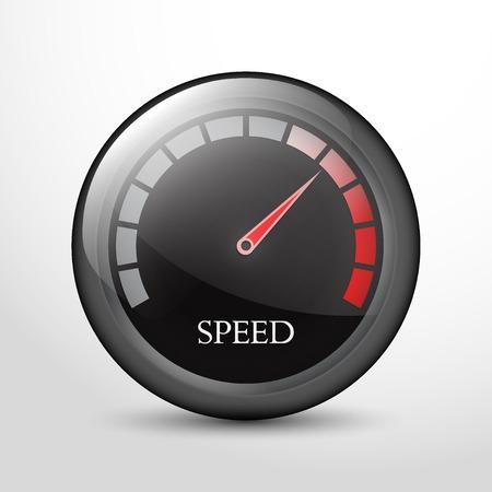 slow down: speedometer web flat icon