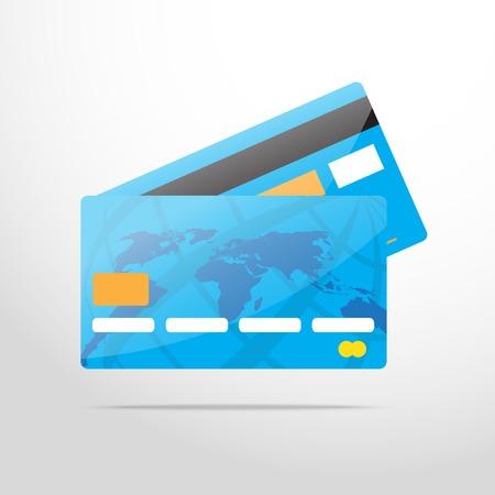 mastercard: bank card web flat icon