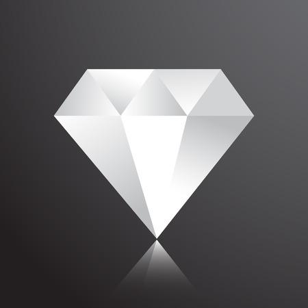 diamond web flat icon Ilustração