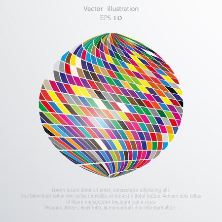 chromatic: Vector abstract mosaic sphere. Illustration