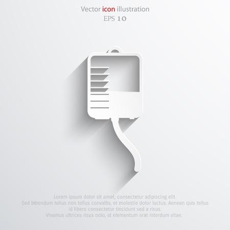 intravenous: Vector medical dropper flat icon. Illustration