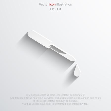 dropper: Vector dropper web icon. Illustration