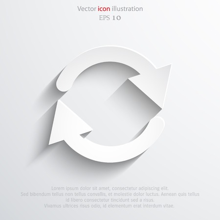 update: Vector update web icon. Illustration