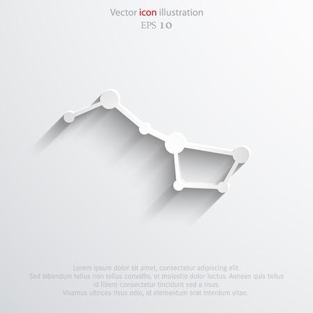 astro: Vector constellation the Great Bear web icon.