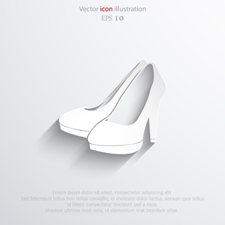 Vector woman boots web icon.